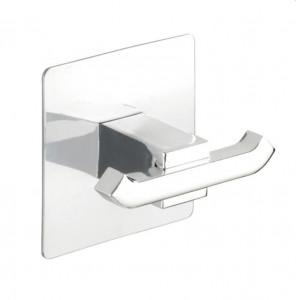 Cuier argintiu din inox Duo Quadro Turbo-Loc Wenko