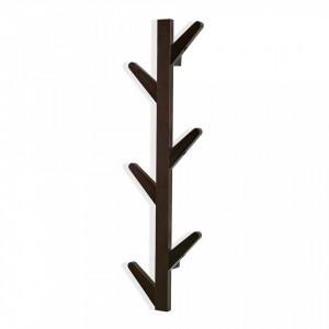Cuier maro din lemn pentru perete Small Brown Hanger Versa Home