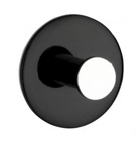 Cuier negru din plastic Tamo Black Wenko