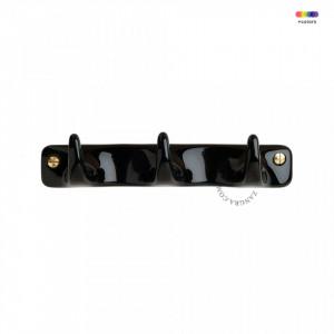 Cuier negru din portelan Russell Black Three Zangra