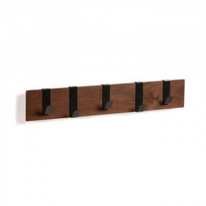 Cuier negru/maro din lemn si metal Mahdis Kave Home