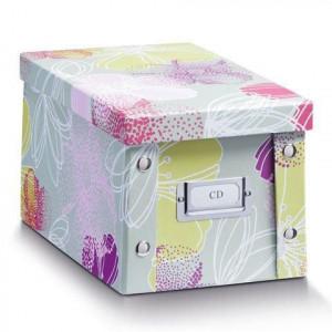 Cutie cu capac multicolora din carton CD Box Zeller