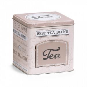 Cutie multicolora din metal pentru ceaiuri Tea Caddy Flap Zeller