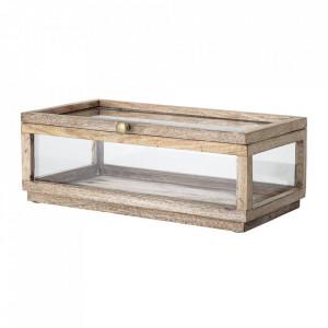Cutie pentru bijuterii maro din sticla si lemn de mango Abigaile Creative Collection