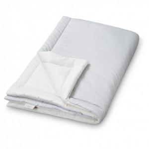 Cuvertura matlasata din bumbac pentru copii 90x120 cm Giulia Grey Wave Cam Cam