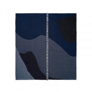 Cuvertura multicolora din lana si bumbac 240x250 cm Vista Bitt Ferm Living
