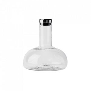 Decantor cu dop transparent/argintiu din sticla 16,5x22 cm Thea Menu