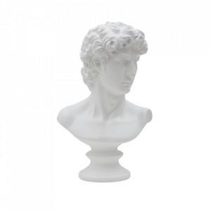Decoratiune alba din polirasina 34 cm Roman Mauro Ferretti
