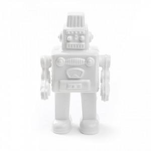 Decoratiune alba din portelan 30 cm My Robot Seletti