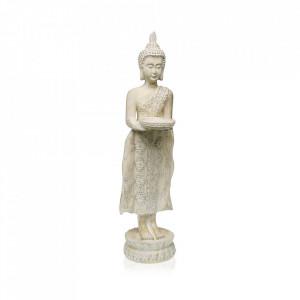 Decoratiune alba din rasina 47 cm Buddha Candle Holder Versa Home