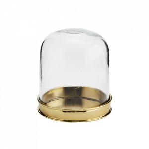 Decoratiune aurie/transparenta din sticla si fier 9 cm Mika Madam Stoltz
