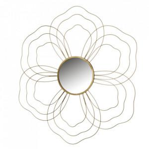 Decoratiune cu oglinda aurie din fier pentru perete 78x84 cm Estelle Unimasa