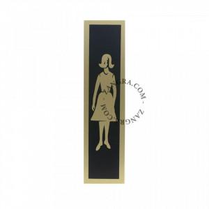 Decoratiune din aluminiu pentru usa Women Vintage Zangra