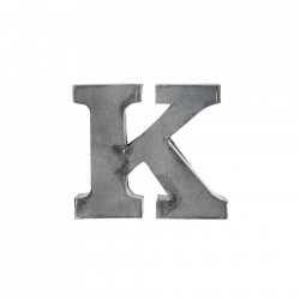 Decoratiune gri din fier 5,5 cm Letter K Madam Stoltz