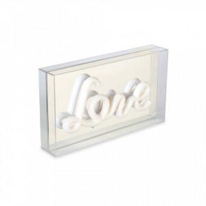 Decoratiune luminoasa alba din plastic Love Opjet Paris