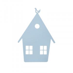 Decoratiune luminoasa albastra din lemn House Ferm Living