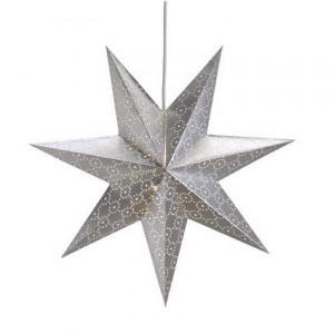 Decoratiune luminoasa argintie din carton Tostared Markslojd