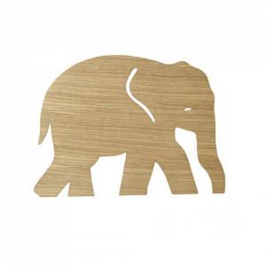 Decoratiune luminoasa de perete maro din lemn Elephant Oiled Oak Ferm Living