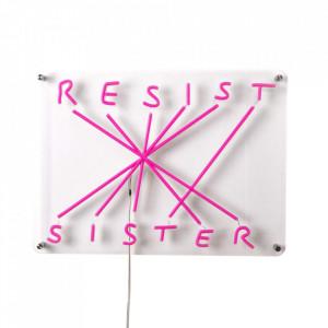 Decoratiune luminoasa din plastic acrilic Resist Sister Seletti