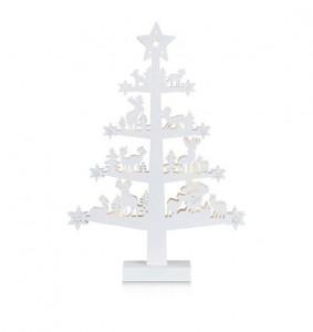 Decoratiune luminoasa LED alba din lemn Prince White Tree Markslojd