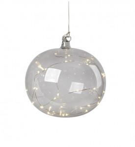 Decoratiune luminoasa suspendabila din sticla Lina Smoke Markslojd