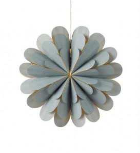 Decoratiune luminoasa suspendabila gri din hartie si plastic Marigold Markslojd