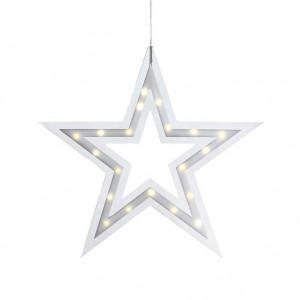 Decoratiune luminoasa suspendabila transparenta/alba din plastic Kville Markslojd