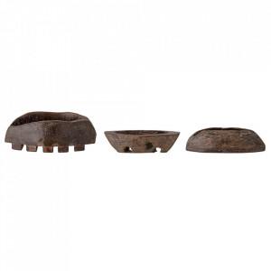 Decoratiune maro din lemn 8 cm Barfina Creative Collection