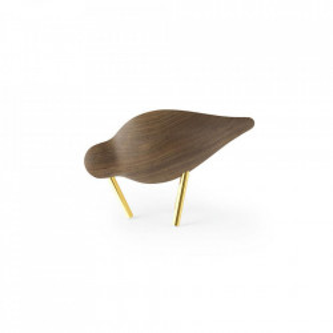 Decoratiune maro din lemn de nuc si otel 7 cm Shorebird Normann Copenhagen