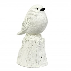 Decoratiune muzicala alba din rasina Singing Bird XXL Pols Potten