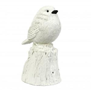 Decoratiune muzicala alba din rasina Singing Bird XXL Pols Potten