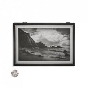 Decoratiune neagra/alba din lemn pentru perete 33x46 cm Playa Cover Versa Home