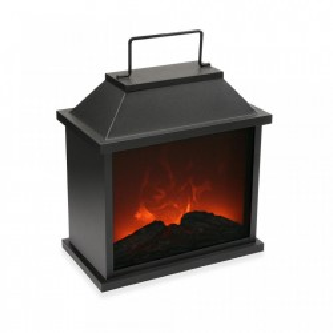 Decoratiune neagra din metal 32 cm Oild Lamp Versa Home