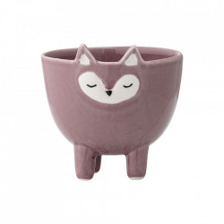Decoratiune roz din ceramica 8 cm Fox Bloomingville