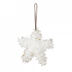 Decoratiune suspendabila alba din pene Star Bloomingville