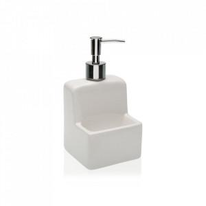 Dispenser alb/argintiu din ceramica 10,5x17,8 cm Snoop Versa Home