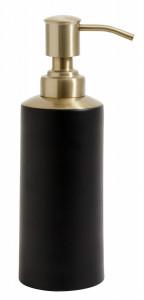 Dispenser negru/maro alama din inox 6x19 cm Brass Top Nordal
