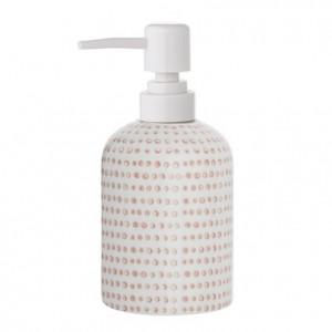 Dispenser sapun lichid alb din ceramica 7,5x17 cm Edda Bloomingville