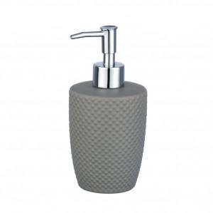 Dispenser sapun lichid gri din ceramica 380 ml Punto Wenko