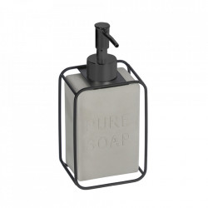Dispenser sapun lichid gri din ciment si otel 6x8 cm Jainen Kave Home