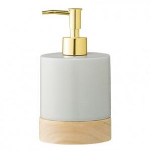 Dispenser sapun lichid gri din portelan 10x18 cm Soap Bloomingville
