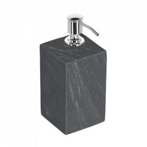 Dispenser sapun lichid negru din marmura si otel 200 ml Aixa Kave Home