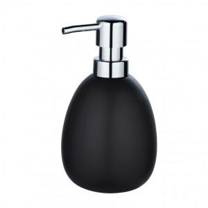 Dispenser sapun lichid negru mat din ceramica 390 ml Polaris Wenko