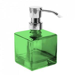 Dispenser sapun lichid verde din sticla 7x14 cm Eva Versa Home