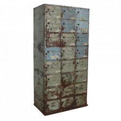 Dulap albastru din fier 187 cm Locker Raw Materials