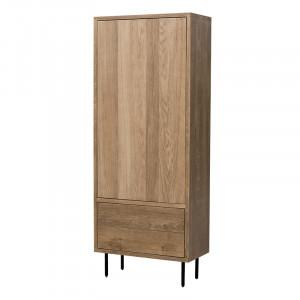 Dulap maro din lemn de stejar si fier 200 cm Tucson Lifestyle Home Collection