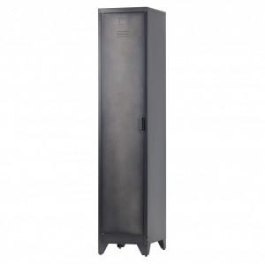 Dulap negru din metal 180 cm One Door Locker Cas Woood