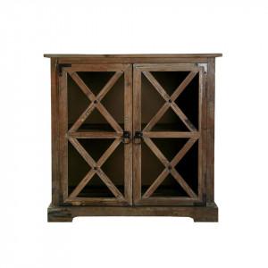 Dulapior maro din lemn de brad Roger Versa Home