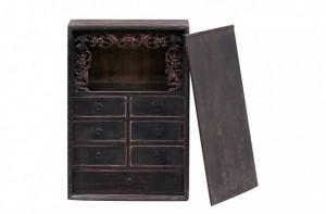 Dulapior negru din ulm 47x32x68 cm Cabinet Versmissen