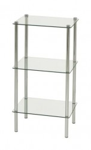 Etajera gri din metal si sticla temperata 77 cm Kevia Three Unimasa